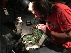 We went behind the scenes of our Rentals Department! Here's Joe cleaning out a Panasonic LH900!  RENT HERE: http://www.zacuto.com/zacuto-camera-rentals