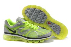 Nike Air Max 2012 Grey Fluorescence Green Women's Shoes           #fashion #shoes