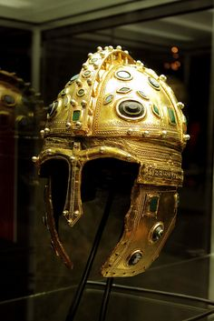 Golden Roman helmet | Golden Roman helmet found near ancient city of Sirmium, nowadays city of Sremska Mitrovica in Serbia. Discovered in 1955 it was dated to around 4th century AD. It is considered that this helmet was manufactured in the imperial workshop in Sirmium.