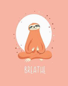 Cartoon Wallpaper, Wallpaper Iphone Cute, Cute Wallpapers, Pintura Yoga, Cute Sloth Pictures, Cute Baby Sloths, Yoga Art, Zen Yoga, Funny Prints