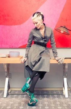 Anyone else thinking we should abandon our Pierre Hardy high-tops in favor of the heelless wedges? http://www.thecoveteur.com/daphne-guinness/