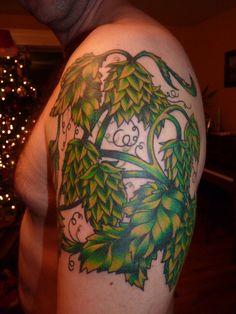 Images For > Hops Vine Tattoo