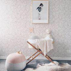 Scallop Dots Wallpaper (rust) $230AU roll
