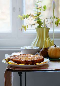 En läcker cheesecake passar perfekt efter höstmiddagen