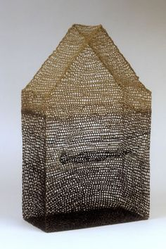 """Norma Minkowitz, Vessels / Forms: """"For many years I have been exploring the possibilities of crocheted, interlaced sculptures stiffened into hard mesh-like structures."""""""