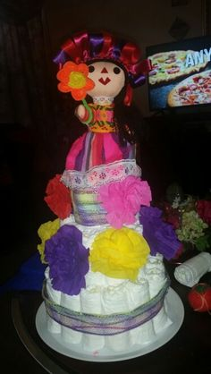 Mexican baby shower dipper cake