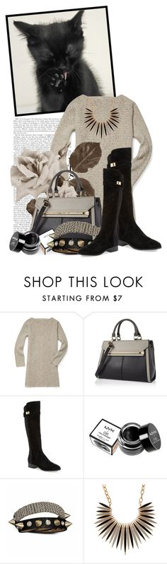 """""""Untitled #8871"""" by queenrachietemplateaddict ❤ liked on Polyvore featuring Rebecca Minkoff, River Island, Nicole Miller, NYX and Bling Jewelry"""