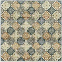 Home Decor Floor Tiles Hand Painted Italian Ceramic Floor Tiles  ♔ Art Ceramic