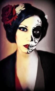 I hope you guys enjoy this half skull halloween makeup tutorial ...
