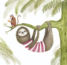 Amy Adele Illustration - this sloth just makes us smile.