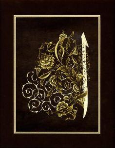 Tezhib by: Nadire Büyükşalvarcı Islamic Patterns, Turkish Art, Arabic Art, Islamic Art, Rock Art, Fractals, Embroidery Patterns, Design Art, Oriental