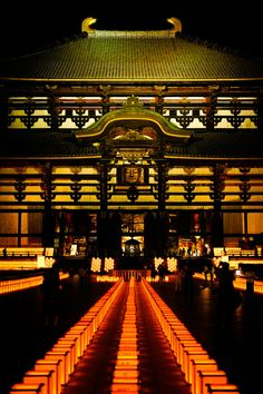 Buddhist Lantern Festival at Todaiji Temple, Nara, Japan. Photography by Masaru-san Nara, Places Around The World, Around The Worlds, Places To Travel, Places To Go, Japan Landscape, Japanese Temple, Zen Gardens, Temples