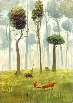Children book illustration | Gediminas Pranckevicius Art