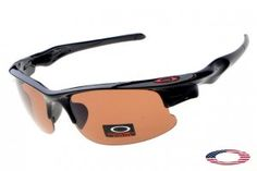 b437a01443 Fake Oakleys Fast Jacket Sunglasses Polished Black   Brown Sunglasses  Outlet