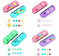 Designed for Nintendo Switch & Switch Lite, perfectly fit Joy-con controller joystick.[Description]*Pack of 10(2 paw caps and 8 key caps)*Specially designed for Nintendo Switch and Switch Lite.*PROTECTION: The Thumb Grip guards your precious Switch device against scratches, dirty or other damages.*Soft and Comfortable.*Various color options that match your Switch perfectly.*Cute and beautiful.[Aftermarket Policy]If you are not satisfied with our products. After receiving the product, please Nintendo Lite, Nintendo Switch Accessories, Apple Airpods 2, Key Caps, Kawaii Room, Cute Room Decor, Joy, Otaku Room, Kawaii Stuff