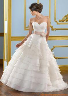 Schöne Brautkleider aus Organza A-Linie mit Band 2013