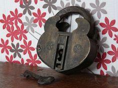 Vintage Iron Padlock
