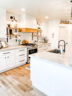 Our Fixer Upper Kitchen Kitchen Shop, New Kitchen, Kitchen Decor, Kitchen Design, Fixer Upper House, Fixer Upper Kitchen, Basement Kitchen, Shop House Plans, Custom Built Homes