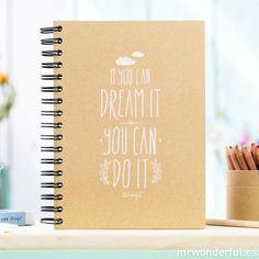 Cahier en papier kraft - If you can dream it, you can do it Notebook