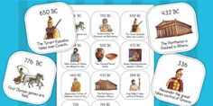 Ancient Greece Timeline Ordering Activity - ancient greeks