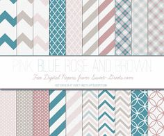 Just Peachy Designs: Free Digital Paper: Pink, Blue, Rose and Brown