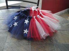 Fourth of July Tutu. -- Might have to get this for of July 4th Of July Party, Fourth Of July, Diy Tutu, Tulle Tutu, Ribbon Tutu, Fabric Tutu, Mardi Gras, July Crafts, Patriotic Crafts