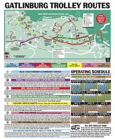 #Gatlinburg Trolley Map
