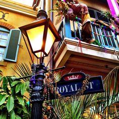Royal Street, New Orleans Square photograph, Mardi Gras, Carnival, Disneyland, colorful home decor, 8x8 fine art photo print on Etsy, $30.00