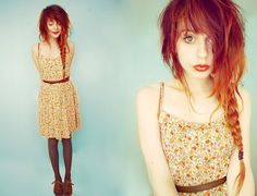 indie girl hairstyle orange - Google Search
