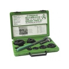 Ratchet Punch Kit Knockout Slug Buster Wrench Tools Work Shop Electrician Holes #Greenlee #ratchetpunchkit