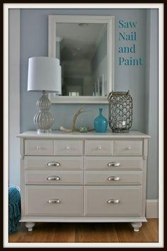 How to update a plain dresser    How to add feet to a dresser