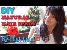 DIY natural hair spray - How to add volume to flat, thin hair - Spray fai da te capelli voluminosi
