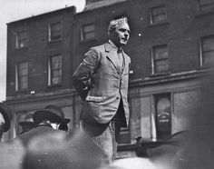 April 1922 - Strike against the Civil War.    On the 24th April,1922, The ILP held a major strike 'against militarism' as Labour leaders endeavoured to prevant the drift into civil war.    Tom Johnson and William O'Brien addressed major meetings but the Four Courts were seized by those who vehemently opposed the Treaty, including Liam Mellows, Ernie O'Malley and Rory O'Connor.  My Grandad named a street after this man. Ireland 1916, Irish Free State, Party Photos, My Dad, War, History, Street, Historia