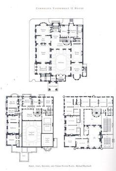 design for a hôtel particulier, paris   floor plans: castles