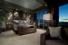 cabecero moñudo dormitorio moderno diseño interior