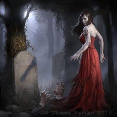 zombie grave girl by james ryman - Zombies Artwork by James Ryman  <3 <3
