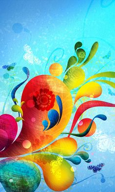 Bright Colours abstract