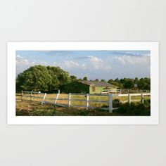 Collect your choice of gallery quality Giclée, or fine art prints custom trimmed by hand in a variety of sizes with a white border for framing.#oldranch #ranch #green #trees #landscape