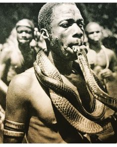 My whole mood when applicable. You can't snake someone who is the snake charmer , the snake tamer, the snake whisperer. Queen Cobra in this… Estilo Tribal, Afro, Afrique Art, Grand Chef, African Tribes, Black History Facts, Black White, Jolie Photo, Historical Pictures