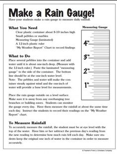 Make a Rain Gauge! | Parents | Scholastic.com
