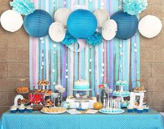 Aliexpress.com : Buy Blue&White Wedding Theme Background Wall Party Decor Cut out Paper Fans, Lanterns,Crepe Paper Streamers Bridal Shower Birthday from Reliable fan manufacture suppliers on Meichen Paper&Plastic Products Company