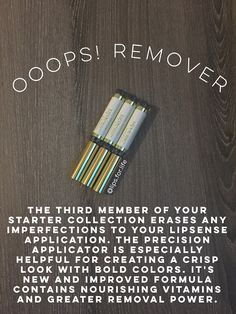 LipSense Facts Ooops! Remover