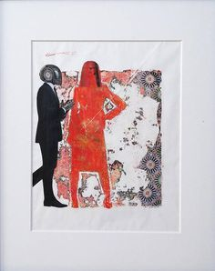 This unique piece is a mixed media collage that combines a monoprint with original pen & ink drawing and collage to create a stunning visual. This colorful and modern work is a true conversation piece. > Original work, not a print or reproduction. > Colorful, bright and optimistic work > Pen
