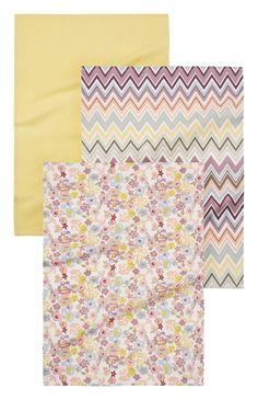 Primark - 3 Pack Floral Zig Zag Tea Towels £3.50
