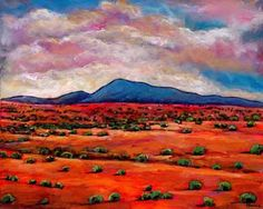 Lucid Dream. Landscape painting of the desert outside of Santa Fe. Landscape painting by Johnathan Harris.