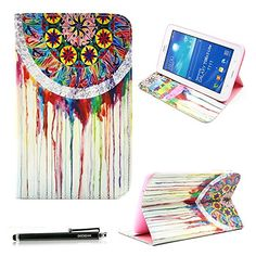 Samsung Galaxy Tab 3 Lite Case, HAOCOO Stylish Art Printed PU Folio Leather Stand Protective Case with Card Slots for Samsung Galaxy Tab 3 Lite 7.0 SM-T110 / T111 7.0 Inch Android Table (Dream Catcher) Haocoo http://www.amazon.com/dp/B00V7VO6YM/ref=cm_sw_r_pi_dp_o64xwb00RWXS3