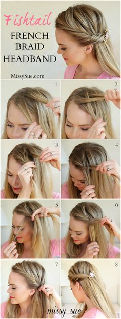 French braid with hairband