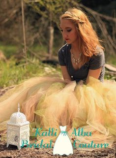 Beautiful Juliet fantasy inspired tulle skirt. Full length tulle skirt. Very versatile.   Pair it with any top to create your own look. Custom made for YOU. Can be very dramatic or low key.  Made in colors YOU choose. Contact me today for yours!!! www.KalliAlba.com  Perfect for weddings, Engagement Shoots,Girls Night Photo Shoots, Fantasy shoots, Birthdays, Night on the town, Reunions, Sorority Balls, Prom,  or even to make you feel like a Princess while cleaning your house!