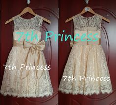 Lace Flower Girl Dress Ivory Flower Girl Dress by 7thprincess, $77.00