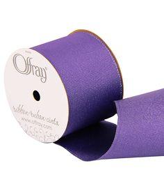 2 And One Qtr Grosgrain Glitz Purple Ribbon
